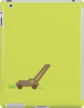 Lawn mower with cut grass by jazzydevil