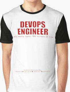 Devops Engineer (Red) - Sysadmin Day Graphic T-Shirt
