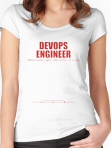 Devops Engineer (Red) - Sysadmin Day Women's Fitted Scoop T-Shirt