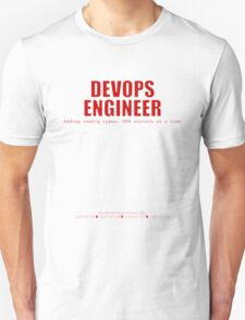 Devops Engineer (Red) - Sysadmin Day Unisex T-Shirt