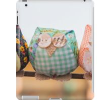 owls fabric handmade iPad Case/Skin