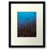 WRECKAGE DIVER Framed Print