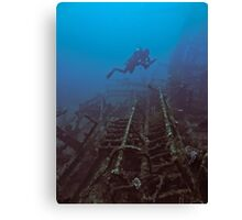 WRECKAGE DIVER Canvas Print