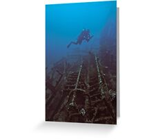 WRECKAGE DIVER Greeting Card