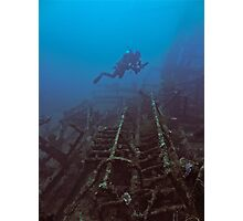 WRECKAGE DIVER Photographic Print