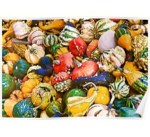 Gourds at the Farmers Market Poster