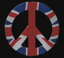 Peace sign and Union Jack by stuwdamdorp