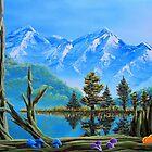 Lake Matheson Mushrooms by Joshua Bales