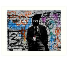 the crayola grafitti bandit   Art Print