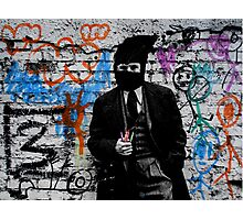 the crayola grafitti bandit   Photographic Print