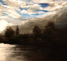 Summer evening over Kingston Upon Thames by Paul Fearn