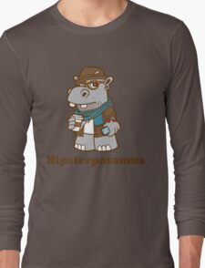 Hipsterpotamus Long Sleeve T-Shirt