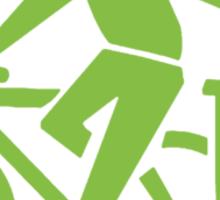 clean up.    green font Sticker