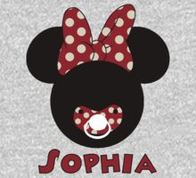 Baby Minnie Mouse with pacifier PERSONALIZE IT ~BUBBLEMAIL ME FOR YOUR LISTING~  by sweetsisters