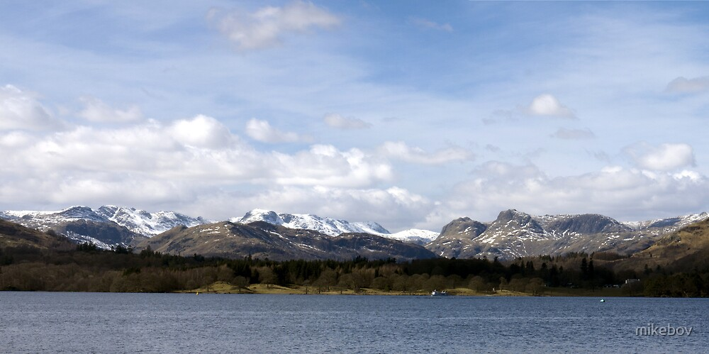 Snow Capped Panorama by mikebov