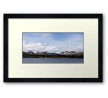 Snow Capped Panorama Framed Print