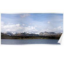 Snow Capped Panorama Poster