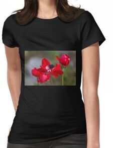 anemone coronaria in the garden Womens Fitted T-Shirt