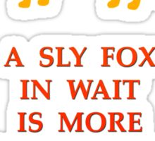 Sly Fox and the Bull Sticker