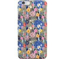 Floral pattern with bright snail iPhone Case/Skin
