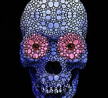 Skull Art - Day Of The Dead 1 Stone Rock'd Art By Sharon Cummings by Sharon Cummings