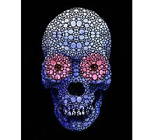 Skull Art - Day Of The Dead 1 Stone Rock'd Art By Sharon Cummings Photographic Print
