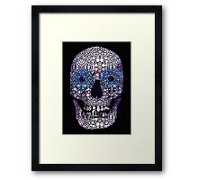 Skull Art - Day Of The Dead 2 Stone Rock'd Framed Print