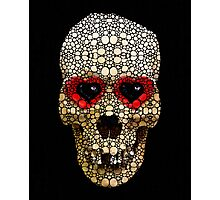 Skull Art - Day Of The Dead 3 Stone Rock'd Photographic Print
