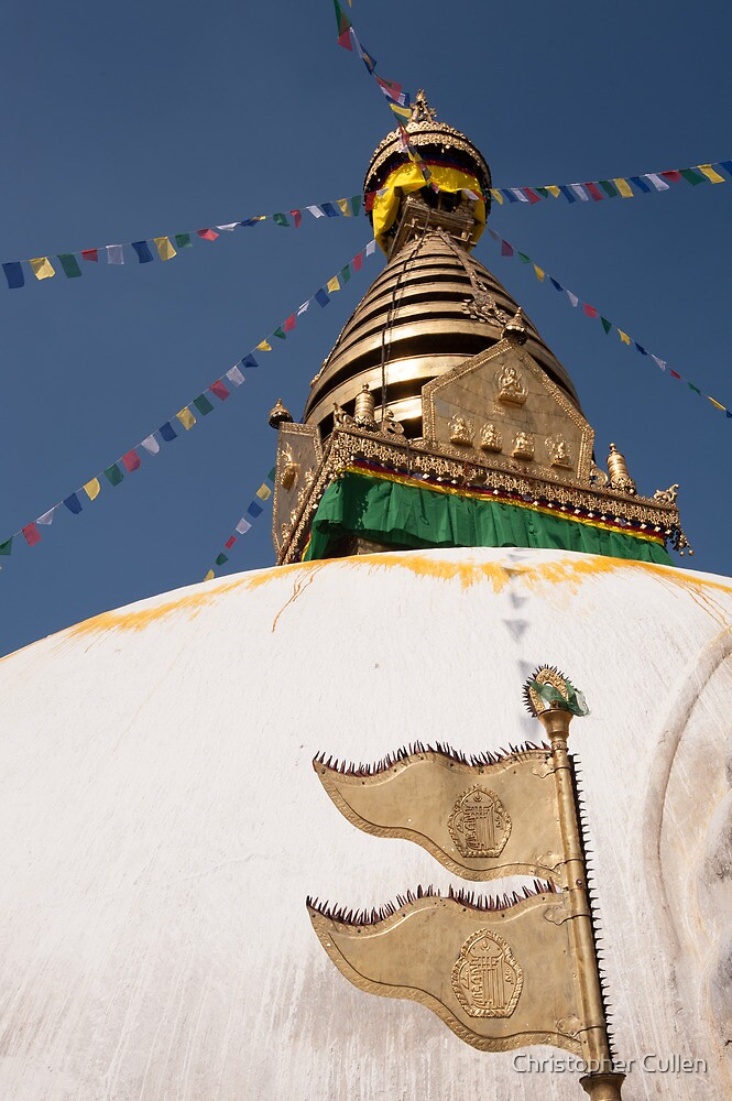 Swayambunath Stupa by Christopher Cullen