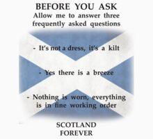 Three kilt FAQ's T-Shirt