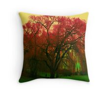 colourful tree Throw Pillow