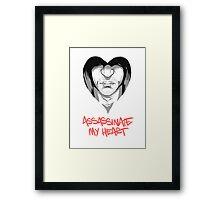 Assassinate My Heart Framed Print