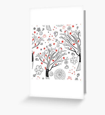 beautiful trees Greeting Card