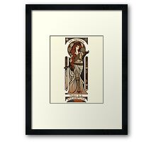 Steampunk Nouveau 2- Cream Framed Print