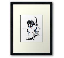 Black & White Pitbull Framed Print