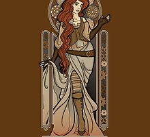 Steampunk Nouveau 2- Brown by miss-lys