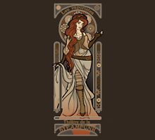 Steampunk Nouveau 2- Brown Unisex T-Shirt