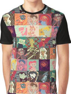 18 Cartoon Protagonists Graphic T-Shirt