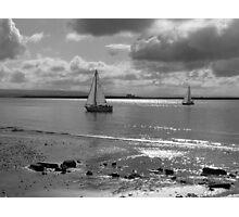 Yachts off Burnham-on-Sea Photographic Print