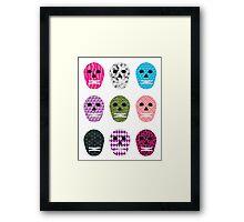Sugar Pattern Skulls Framed Print