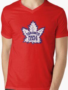 Toronto Maple Leafs Retro Logo Mens V-Neck T-Shirt