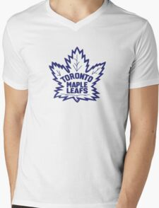 Toronto Maple Leafs Retro Logo Mens V-Neck T-Shirt