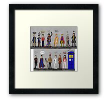 The Doctors and the Companions Framed Print