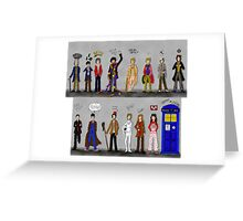 The Doctors and the Companions Greeting Card