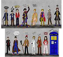 The Doctors and the Companions Photographic Print