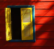 Red & Yellow Window by Mike Hope
