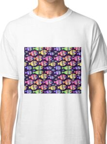Colorful Fishes Pattern Design Classic T-Shirt
