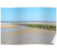 Beach in Breskens, Zeeland Poster