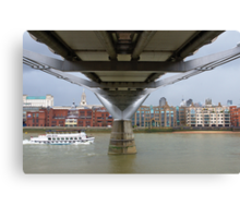 Under the Millenium Bridge in London Canvas Print