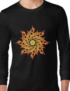 Share Favorite Psychedelic fire ornament sun 2 Long Sleeve T-Shirt